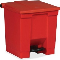 Rubbermaid Commercial Products 8 Gallon Step On Trash CanPlastic in Red, Size 17.8 H x 16.25 W x 15.75 D in   Wayfair 614300RED found on Bargain Bro Philippines from Wayfair for $99.73