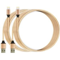 Lisensy Tech Lightning Cables Golden - Gold Lightning Cable - Set of Two found on Bargain Bro India from zulily.com for $12.99