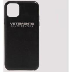 Haute Couture Leather Iphone® 11 Pro Case - Black - Vetements Cases