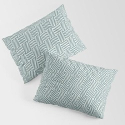 Diamond Painted-blue King Size Pillow Sham by Anneke Doorenbosch - STANDARD SET OF 2 - Cotton found on Bargain Bro India from Society6 for $39.99