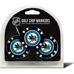 Team Golf San Jose Sharks 3-pack Poker Chip Ball Markers, Multicolor found on Bargain Bro Philippines from Kohl's for $20.00