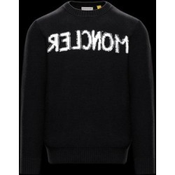 Moncler Sweater With Inlaid Logo - Black - 2 Moncler 1952 Knitwear found on Bargain Bro from lyst.com for USD $554.80