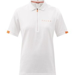 Half-zip Cotton-blend Piqué Polo Shirt - White - Falke Tops found on MODAPINS from lyst.com for USD $189.00