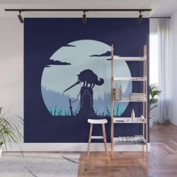 Grey Wolf Sif (dark Souls) Wall Mural by Michael Cullen-benson - 8' X 8' found on Bargain Bro from Society6 for USD $170.99