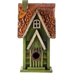 Glitzhome Distressed Solid Wood Bird House, 11.93-in found on Bargain Bro India from Chewy.com for $28.49