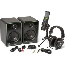 Mackie PodCast Creator Bundle w/USB mic, monitors, headphones found on Bargain Bro India from Crutchfield for $249.99