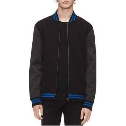 Calvin Klein Mens Colorblocked Bomber Jacket (Black - Large), Men's(cotton) found on Bargain Bro Philippines from Overstock for $72.31