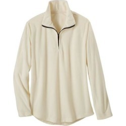 Haband Women's Fleece Sweatshirt, Print and Solid, Ivory, Size 4XL, 4X found on Bargain Bro Philippines from Haband for $13.99