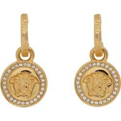 Gold Diamond Medusa Earrings - Metallic - Versace Earrings found on Bargain Bro from lyst.com for USD $266.00