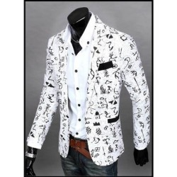 The New Men's Casual Slim Floral Fashion City Suit Jacket found on MODAPINS from Overstock for USD $35.81