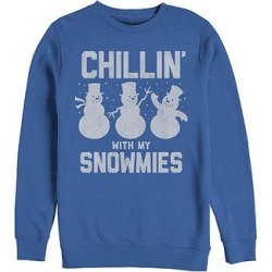 Fifth Sun Men's Sweatshirts and Hoodies ROYAL - Royal Blue 'Chillin' With My Snowmies' Crewneck Sweater - Men found on Bargain Bro from zulily.com for USD $15.19