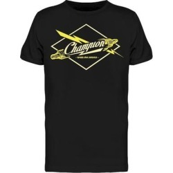 Champion Spark Plugs Service Tee Men's -Image by Shutterstock (XXL), Black found on Bargain Bro Philippines from Overstock for $16.99