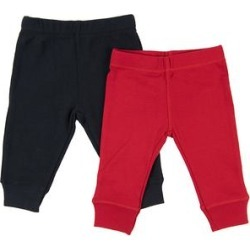 Leveret Leggings - Red & Navy Two-Pack Leggings Set - Newborn & Infant