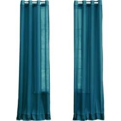 Wide Width BH Studio Sheer Voile Grommet Panel by BH Studio in Dark Turquoise (Size 56