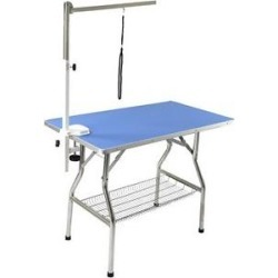 Flying Pig Grooming Heavy Duty Dog & Cat Grooming Table with Arm, Small, Blue