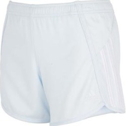 adidas Girls' Active Shorts LIGHT - Light Blue & White Stripe Logo Mesh Athletic Shorts - Girls found on Bargain Bro Philippines from zulily.com for $16.99