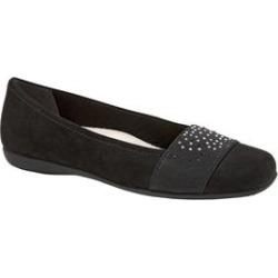 Women's Samantha Flats by Trotters in Black Microfiber (Size 8 M) found on Bargain Bro India from Woman Within for $89.99
