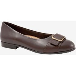 Women's Aubrey Flat by Trotters in Dark Brown (Size 9 1/2 M) found on Bargain Bro India from Woman Within for $99.99
