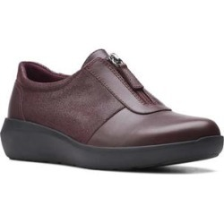 Clarks Women's Sneakers Burgundy - Burgundy Kayleigh Sail Leather Sneaker - Women found on Bargain Bro from zulily.com for USD $28.11
