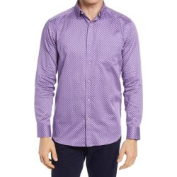 Diamond Grid Button-up Shirt - Purple - Johnston & Murphy Shirts found on Bargain Bro from lyst.com for USD $76.00