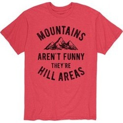 Instant Message Mens Men's Tee Shirts HEATHER - Heather Red 'Mountains Aren't Funny' Tee - Men