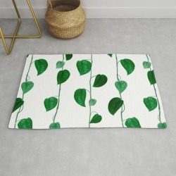Vine Designs! Modern Throw Rug by These_little_leaves - 2' x 3' found on Bargain Bro Philippines from Society6 for $39.20