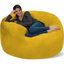 Bean Bag Chair 5-foot Memory Foam Removable Cover Bean Bags found on Bargain Bro from Overstock for USD $147.74