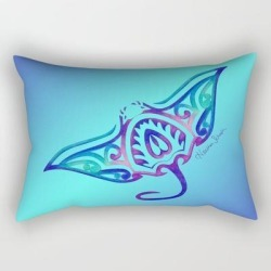 "Rectangular Pillow | Tribal Manta Ray by Artsytoocreations - Small (17"" x 12"") - Society6"