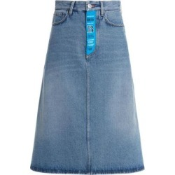 Distressed Denim Skirt - Blue - Balenciaga Skirts found on Bargain Bro Philippines from lyst.com for $795.00