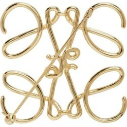 Gold Anagram Brooch - Metallic - Loewe Cufflinks found on MODAPINS from lyst.com for USD $270.00