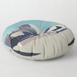"Soviet Modernism: Youth Metro Station In Yerevan, Armenia Floor Pillow by Nvard Yerkanian - ROUND - 30"" x 30"""