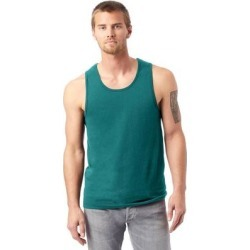 Alternative 1091C1 Men's Go-To Tank Top in Teal size Small | Cotton