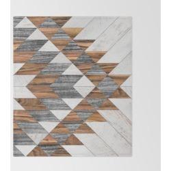 Urban Tribal Pattern No.12 - Aztec - Wood Bed Throw Blanket by Zoltan Ratko - 51