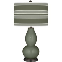 Deep Lichen Green Bold Stripe Double Gourd Table Lamp found on Bargain Bro Philippines from LAMPS PLUS for $149.99