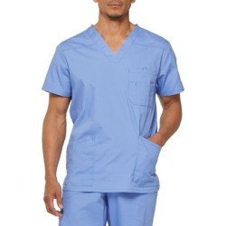 Dickies Men's Eds Signature V-Neck Scrub Top - Ceil Blue Size L (81906) found on Bargain Bro India from Dickies.com for $21.99
