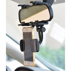 eDooFun Docking Stations Black - Black Rear View Mirror Phone Holder found on Bargain Bro India from zulily.com for $9.99