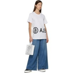 White Logo Motocross Tote - White - MM6 by Maison Martin Margiela Totes found on Bargain Bro from lyst.com for USD $395.20