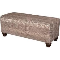 Leffler Home Richmond Upholstered Bench in Yearling Antelope Java (Yearling Antelope Java), Brown