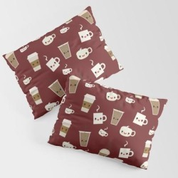 Coffee Break King Size Pillow Sham by Sara Showalter - STANDARD SET OF 2 - Cotton found on Bargain Bro from Society6 for USD $30.39