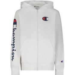 Champion Boys' Sweatshirts and Hoodies WHITE - White Logo Zip-Up Hoodie - Boys found on Bargain Bro from zulily.com for USD $11.39