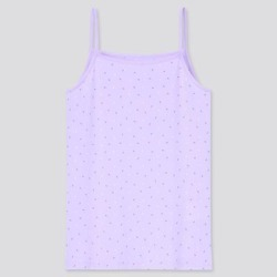 UNIQLO Girl's Airism Cotton Blend Printed Camisole , Purple, 11-12Y found on Bargain Bro India from Uniqlo for $9.90