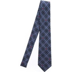 Double G Checked Tie - Blue - Gucci Ties found on Bargain Bro India from lyst.com for $196.00
