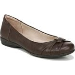 Women's Gift Ballet Flat by Naturalizer in Dark Brown (Size 9 1/2 M) found on Bargain Bro from fullbeauty for USD $45.59