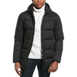 Herno Hooded Wool-Blend Down Coat (58), Men's, Black found on MODAPINS from Overstock for USD $824.99
