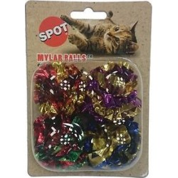 Ethical Pet Mylar Balls Cat Toy, 1.5-in, 4 pack found on Bargain Bro India from Chewy.com for $1.99