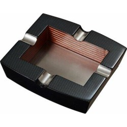 Visol Products Nomandy Wooden Cigar Ashtray in Black/Gray, Size 1.75 H x 7.0 W x 6.5 D in | Wayfair VASH723Georgia found on Bargain Bro Philippines from Wayfair for $42.59