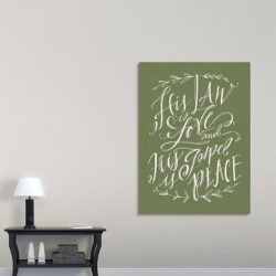 Red Barrel Studio® Giclee 'His Law is Love' Textual Art PrintCanvas & Fabric in Black/Brown/Gray, Size 60.0 H x 44.0 W x 1.5 D in | Wayfair found on Bargain Bro Philippines from Wayfair for $439.99