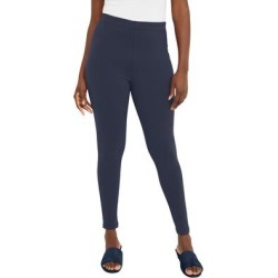 Plus Size Women's Everyday Legging by Jessica London in Navy (Size 14/16) found on Bargain Bro Philippines from Roamans.com for $22.99