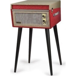 Crosley Electronics Dansette Bermuda Decorative Record Player w/ Bluetooth & Pitch Control in Red, Size 26.0 H x 16.0 W x 16.25 D in   Wayfair found on Bargain Bro Philippines from Wayfair for $219.95
