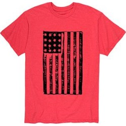 Instant Message Mens Men's Tee Shirts RED - Red Distressed Flag Tee - Men